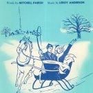 Sleigh Ride Vintage Sheet Music Parish & Anderson Mills