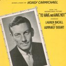 Hong Kong Blues Vintage Sheet Music Carmichael Spier