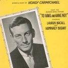 Hong Kong Blues Vintage Sheet Music Carmichael Spier