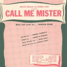 South America Take It Away Call Me Mister Vintage Sheet Music Douglas Levin Witmark
