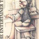Vintage The Entertainer Original Piano Solo Sheet Music by Scott Joplin Columbia
