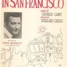 I Left My Heart In San Francisco Vintage Sheet Music Cory Cross General