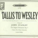 Tallis To Wesley Number 29 English Organ Music Hinrichsen Number 1035