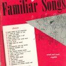 Vintage Album Of Familiar Songs Words & Music Complete Robbins