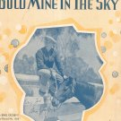 Vintage There's A Gold Mine In The Sky Sheet Music Kenny Berlin Crosby