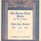 The Twenty Third Psalm Sheet Music Vintage Malotte Schirmer