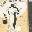 Merry Widow Waltz Piano Solo Sheet Music Vintage  Moderne