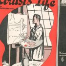 Artist's Life Piano Solo Sheet Music Vintage Strauss  Moderne