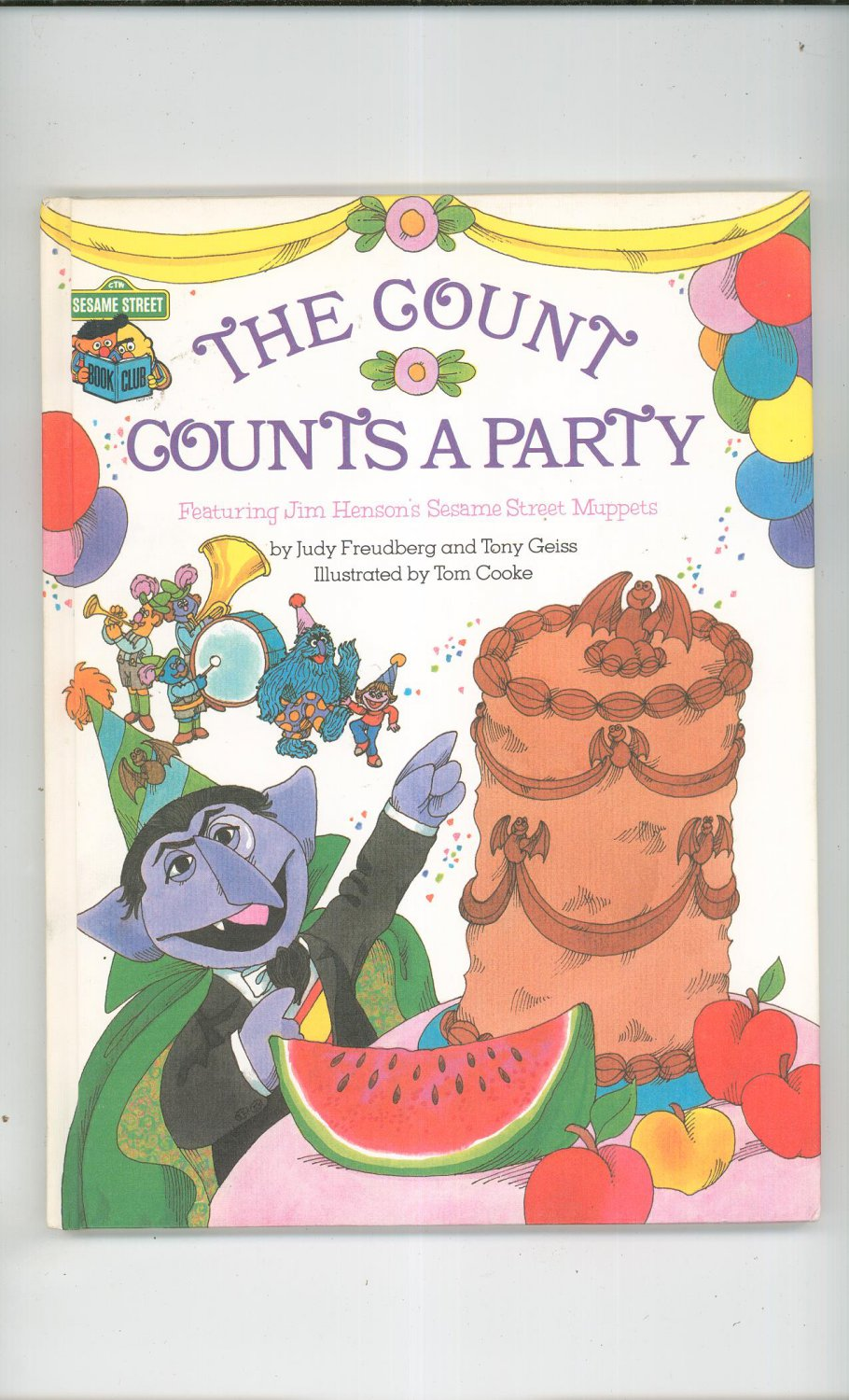 The Count Counts A Party Sesame Street Freudberg Geiss Hard Cover 0307231062