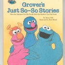Grover's Just So So Stories Sesame Street Hall Hard Cover 0307231607