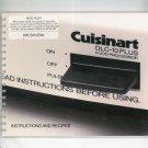 Cuisinart DLC 10 Plus Instruction and Recipe Manual Cookbook