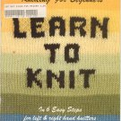 Vintage Knitting For Beginners Learn To Knit Book 17380 C. J. Bates