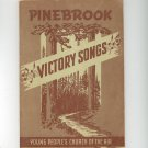 Vintage Pinebrook Victory Songs Songbook Young People's Church Of The Air