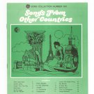 Songs From Other Countries Chord Organ GE Song Collection Number Six