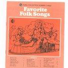 Favorite Folk Songs Chord Organ GE Song Collection Number Three