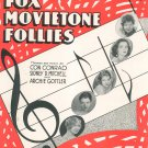 Breakaway & Big City Blues Sheet Music Fox Movietone Follies Brown & Henderson Vintage