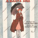 I've Been Saving For A Rainy Day Clark & Swanstrom Sheet Music Fisher Vintage