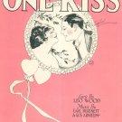 One Kiss Fox Trot Song Burtnett Arnheim Wood Sheet Music Feist Vintage