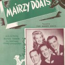 Mairzy Doats Drake Hoffman Livingston Merry Macs On Cover Sheet Music Miller Vintage