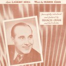 Near You Goell Craig Francis Craig On Cover Sheet Music Supreme Vintage