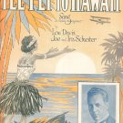 I'll Fly To Hawaii Davis Schuster Jimmy Caruso On Cover Sheet Music Remick Vintage