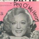 Sweetheart Darlin Kahn Stothart Peg O' My Heart Sheet Music Robbins Vintage