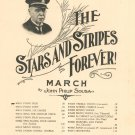 The Stars And Stripes Forever March Sousa Sheet Music Church Vintage