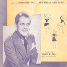 Scatter Brain Burke Bean Frankie Masters On Cover Sheet Music BVC Vintage