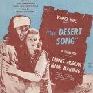 One Alone Desert Song Harbach Romberg Sheet Music Harms Vintage