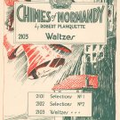 Chimes Of Normandy Planquette Waltzes Sheet Music Century Certified Vintage