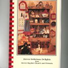 Dover Delicious Delights Cookbook Baptist Church Regional North Carolina