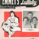Emmet's Lullaby Emmet Sheet Music Calumet Vintage
