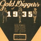 The Words Are In My Heart Gold Diggers Of 1935 Sheet Music Witmark Vintage