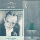 The Lamp Is Low Parish DeRose Shefter Gray Gordon On Cover Sheet Music Robbins Vintage