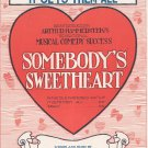 It Gets Them All Somebody's Sweetheart Hammerstein Stothart Sheet Music Shapiro Vintage
