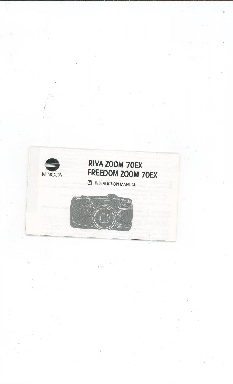 Minolta Riva Zoom Freedom Zoom 70ex Camera Instruction border=