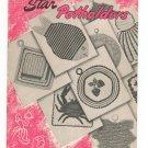 Vintage Star Potholders Star Book 55 American Thread Crochet