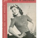Vintage So You're Going To Knit A Sweater Chadwick's Red Heart Book 171 Spool Cotton