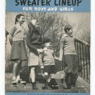 Vintage Sweater Lineup For Boys And Girls Book 150 Spool Cotton
