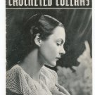 Vintage Clark's O.N.T. Crocheted Collars Book 68 Spool Cotton