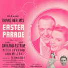 Vintage It Only Happens When I Dance With You Sheet Music Easter Parade Berlin