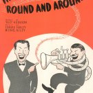 Vintage The Music Goes Round And Around Hodgson FArley Rilley Sheet Music