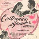 Vintage All Through The Day Hammerstein & Kern Sheet Music Centennial Summer