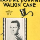 Vintage Hand Me Down My Walkin Cane Bernie Cummins On Cover Sheet Music