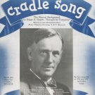 Vintage Cradle Song Edgar Guest On Cover Sheet Music Household Finance Advertisement On Rear Cover
