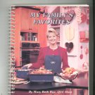 My Family's Favorites Cookbook By Mary Beth Roe QVC Signed Copy