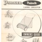 Vintage Parker Parkerette Lawn Sweeper Model PA-5620 Owners Guide Not PDF