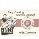 Vintage Easy Cooking Without Looking It's Automatic Tem Trol Roper Gas Ranges