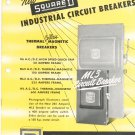 Vintage New Square D Industrial Circut Breakers Catalog Thermal Coilless Magnetic