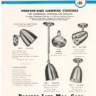 Vintage Lot Of 15 Assorted Perfect Line Bulletins Lighting Fixtures Plus 1948
